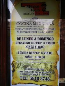 Mexico Viejo Menu 1